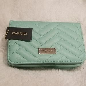 Brand New with Tag Bebe mint colored purse